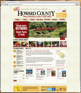 Howard County Tourism Website Homepage