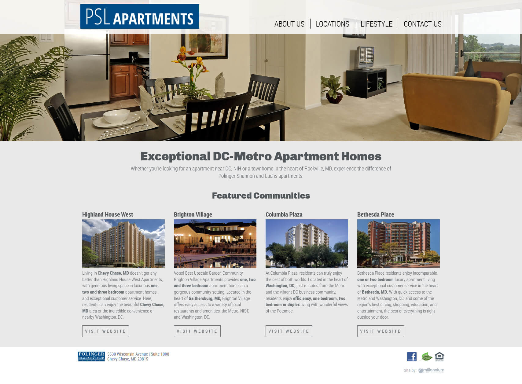 PSL Apartments - Full Site - Millennium Marketing Solutions