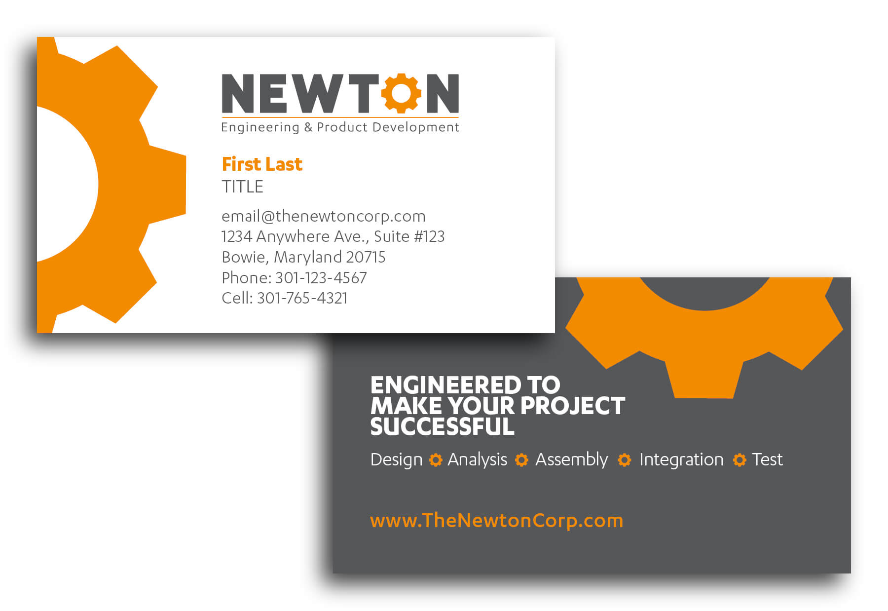 Newton Business Cards - Millennium Marketing Solutions