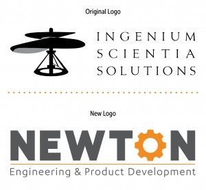 Original and Redesigned Newton Logos