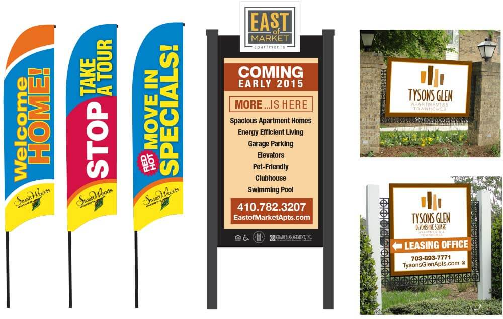 Outdoor Signage Banners Flags Pop Up Signs And Permanent In