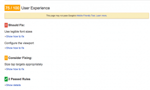 Google User Experience Test