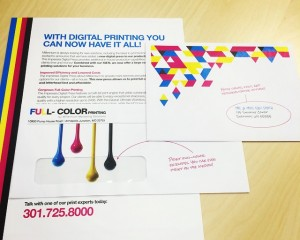 Color printing at Millennium Marketing Solutions