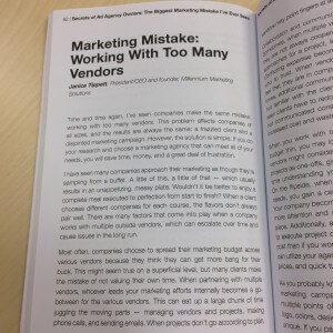 Marketing Mistake: Working With Too Many Vendors