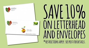 Save 10% on Letterhead and Envelopes