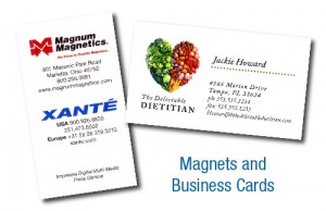 Magnets and Business Cards