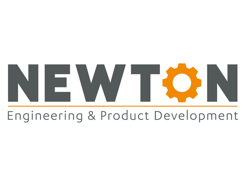 Newton corporation logo design corporate rebrand for Product development corporation