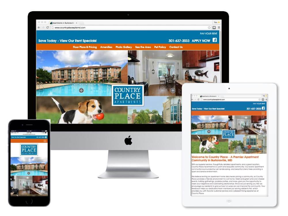 Country Place Apartments Website