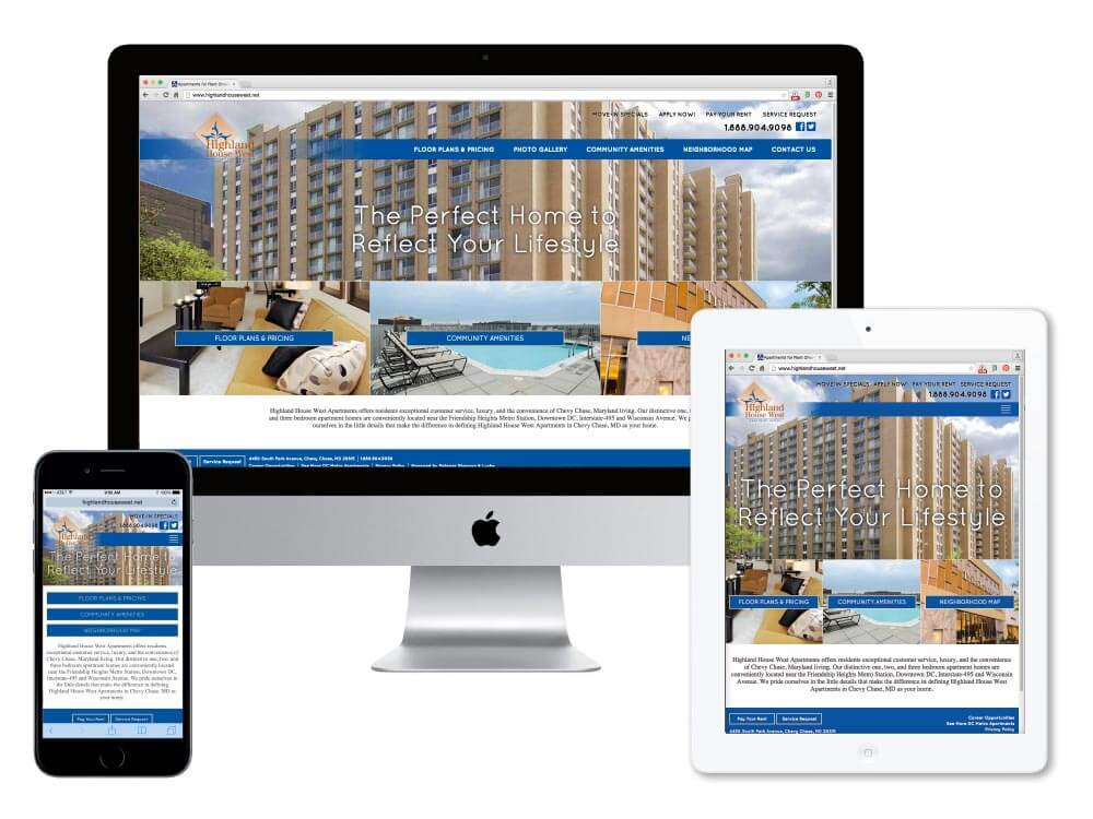 Highland House West Apartments Website - Millennium Marketing ...
