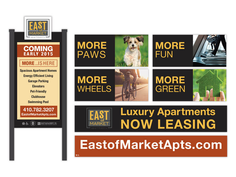 East of Market Apartments Signage