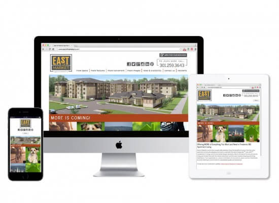 East of Market Apartments Website