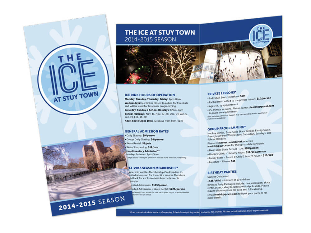 CompasRock The ice at Stuytown brochure