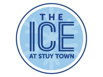 The ice at Stuy Town logo