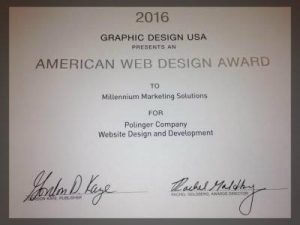 2016 American web Design award for web design and development