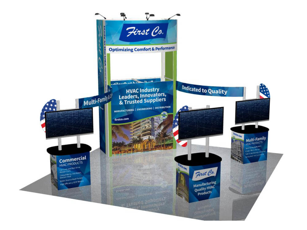 First CO tradeshow booth