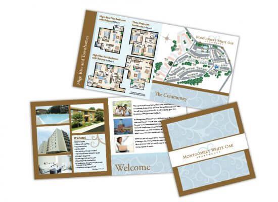 Montgomery white oak apartments brochure and floor plans