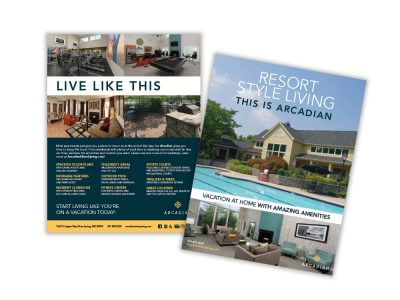 Arcadian living flyers