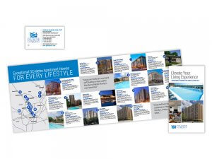 Polinger Company brochure and business card