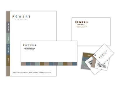 Powers companies stationery