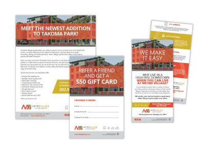 Metro village apartments flyers and information