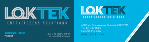 Loktek company business card