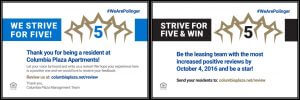 We are Polinger strive for five & win flyer