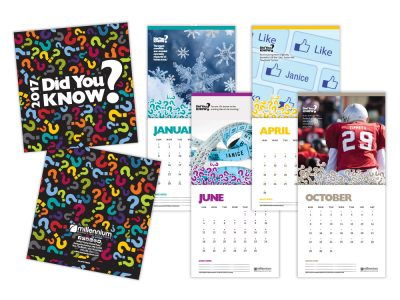 Variable printing personalized calendars