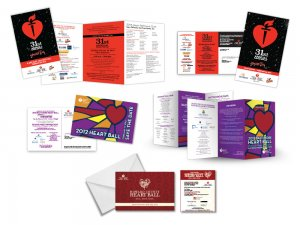 Howard county heart ball flyers and brochures