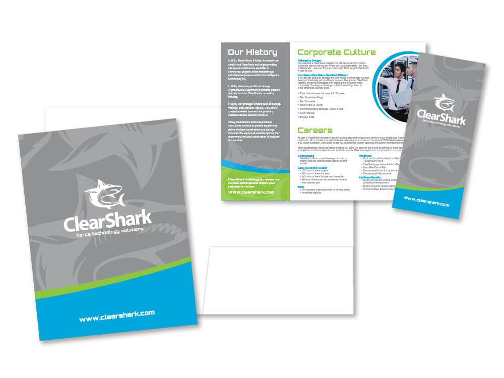ClearShark stationery and information page