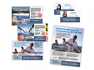 Cruise Annapolis flyers and business cards