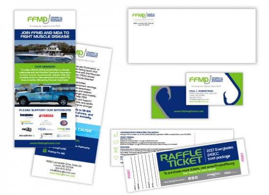 FFMD stationery and signage