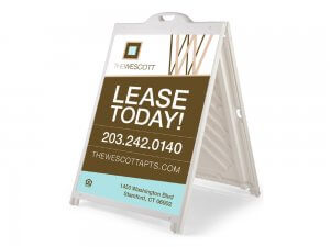 The Wescott lease today sign