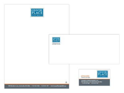 Country Place Apartments stationery