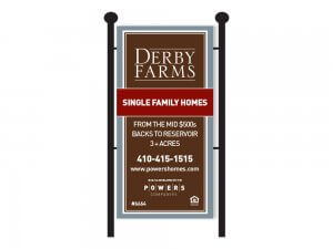 Derby Farms home sign