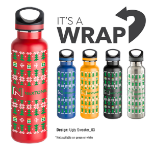 Ugly sweater water bottles