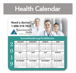 Summit Health calendar 2019