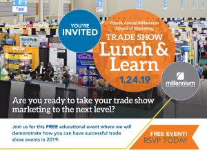Flyer of MMS trade show Lunch & Learn