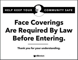 Downloadable Mask Sign - bw