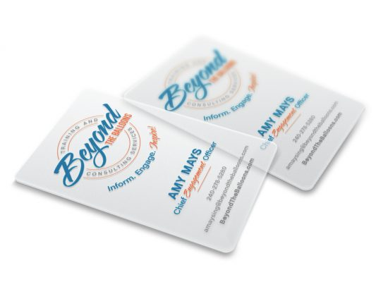 Beyond the Balloons Translucent Business Cards