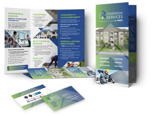 Installation Services Brochure and Business Cards