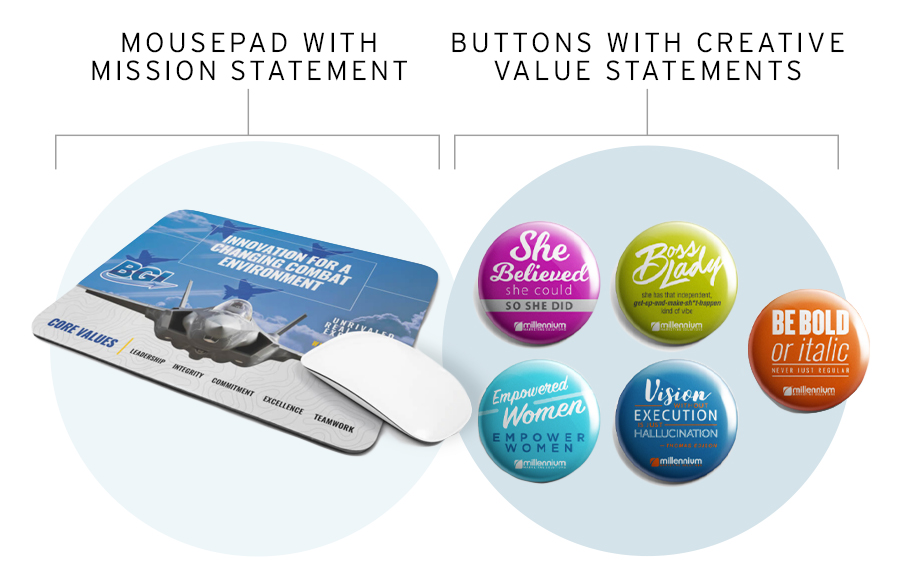 Use Values or Mission Statements in Promotional Products