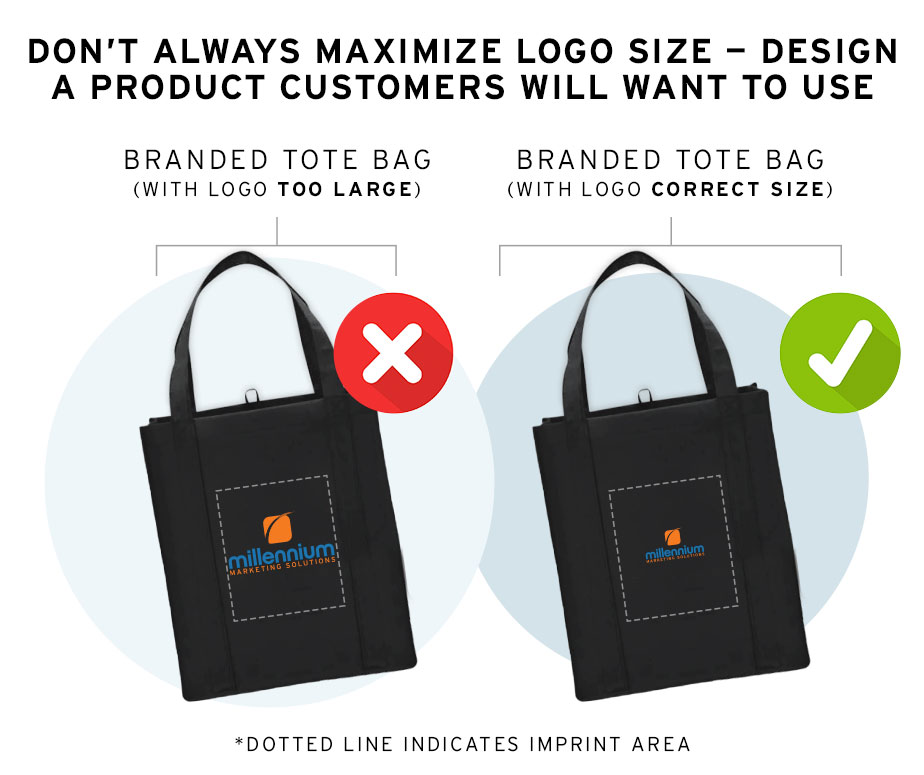 Correctly Size Your Logo on Promo Products